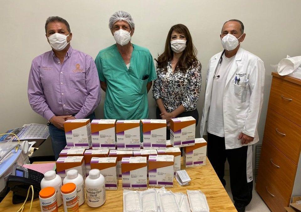 Entregan Primera Dama y Presidente Municipal, Donación De Medicamentos a Hospital General De Cananea.