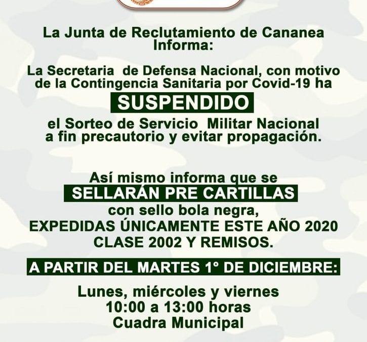 La junta de reclutamiento de Cananea Informa: