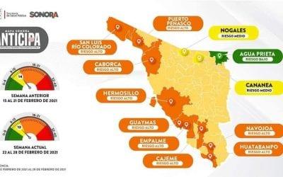 Cananea pasa a formar parte de la lista de municipios en Semaforo  Epidemiológico Amarillo.