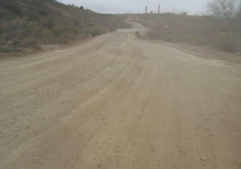 Revestimiento y acondicionamiento de calles del Ejido Cananea Vieja.