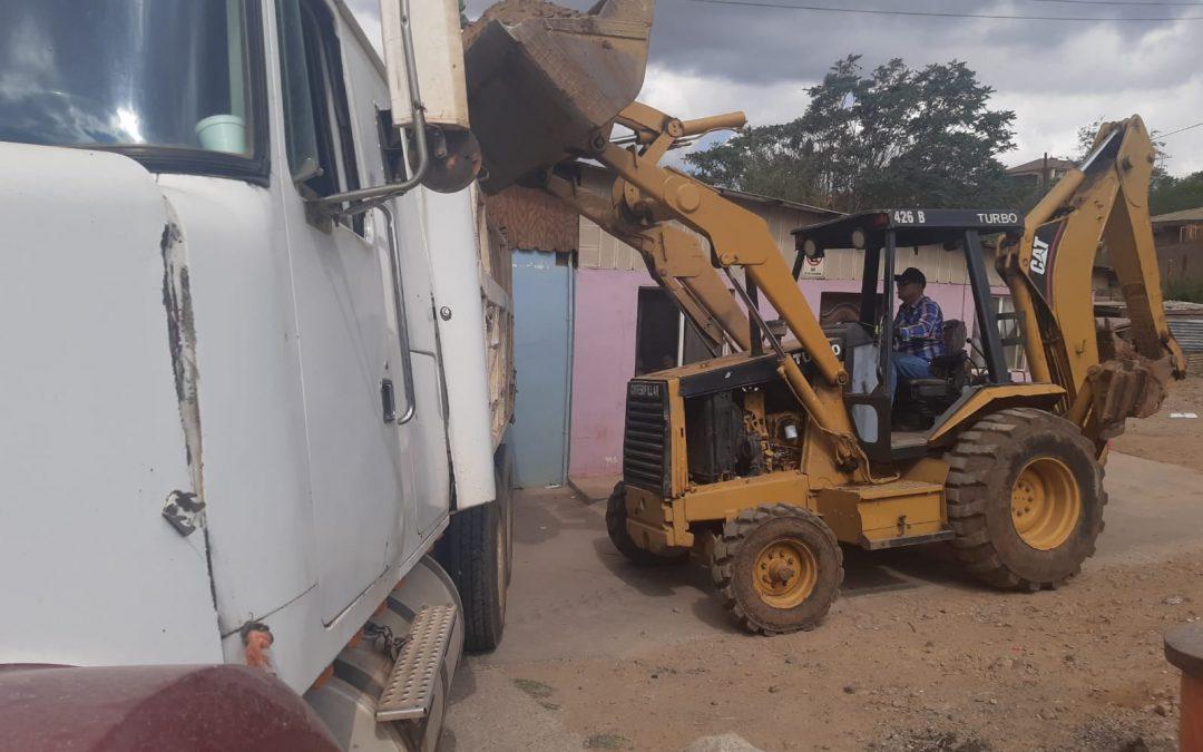Remoción de escombros y limpieza Av. Chiapas y 7ma. Este.