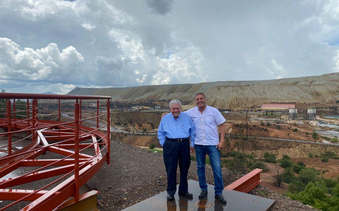 Revisan trabajos y gestiones Alcalde de Cananea y Presidente de la división minera de Grupo México.